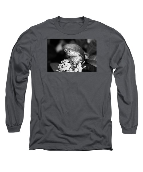 Butterfly Bw - Ins18 Long Sleeve T-Shirt by G L Sarti