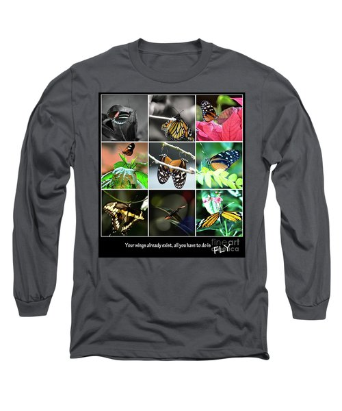 Butterfly Cluster Long Sleeve T-Shirt