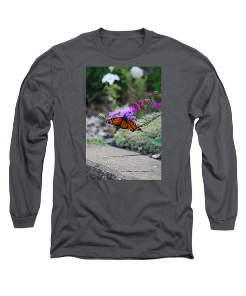 Long Sleeve T-Shirt featuring the photograph Butterfly Garden by Ramona Whiteaker