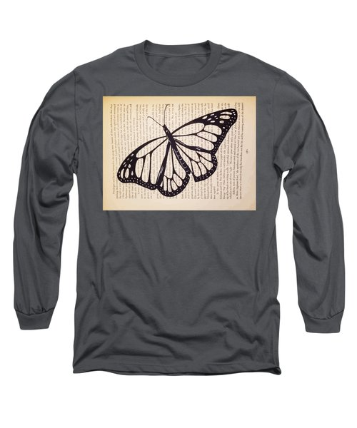 Butterfly In A Book Long Sleeve T-Shirt