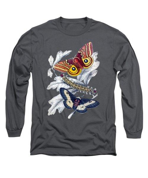 Butterfly Moth T Shirt Design Long Sleeve T-Shirt
