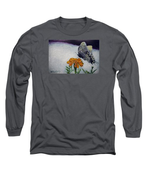 Butterfly Long Sleeve T-Shirt by Ron Richard Baviello