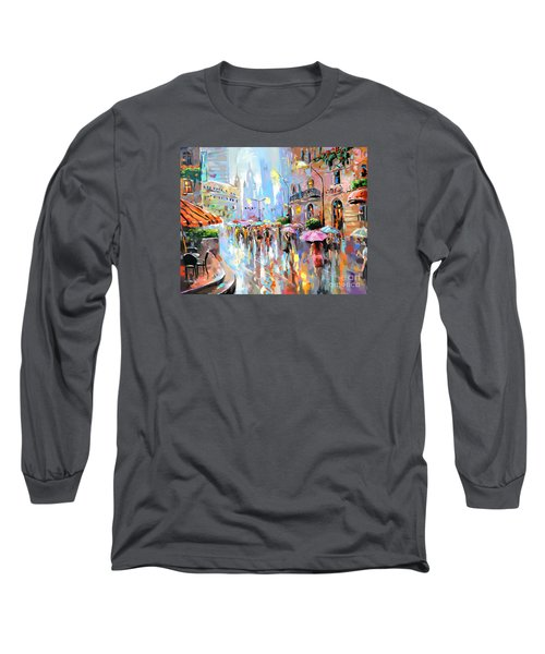 Buzy City Streets Long Sleeve T-Shirt by Tim Gilliland