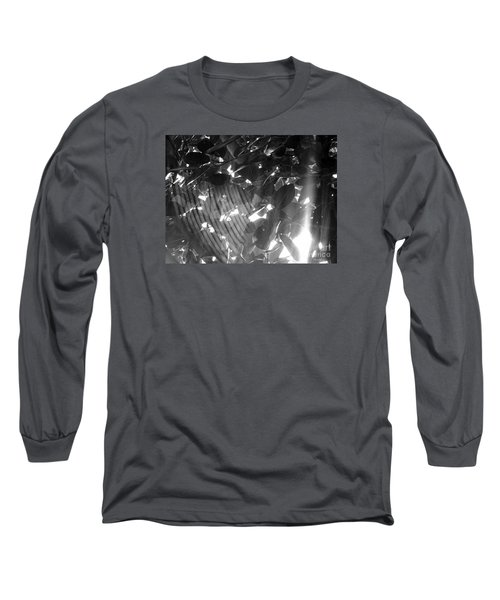 Long Sleeve T-Shirt featuring the photograph Bw Shadow Threads by Megan Dirsa-DuBois