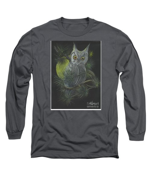 Long Sleeve T-Shirt featuring the drawing By The Light Of The Moon by Carol Wisniewski