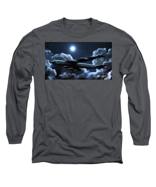 Long Sleeve T-Shirt featuring the painting By The Light Of The Silvery Moon by Dave Luebbert