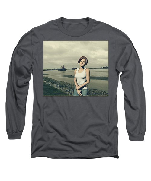 by the muddy Mississippi Long Sleeve T-Shirt