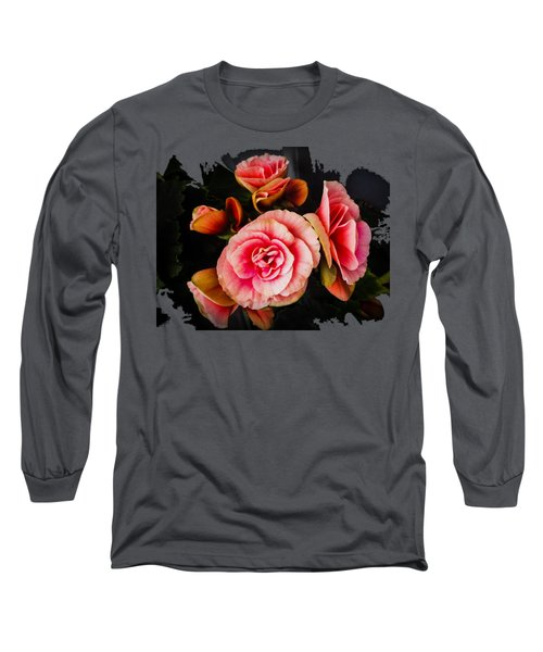 Bygone Begonias Long Sleeve T-Shirt by Jennifer Kohler