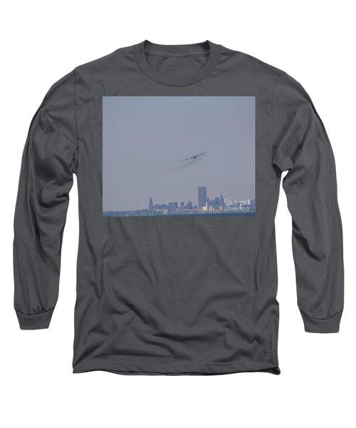C130 Over Buffalo Long Sleeve T-Shirt by Jim Lepard