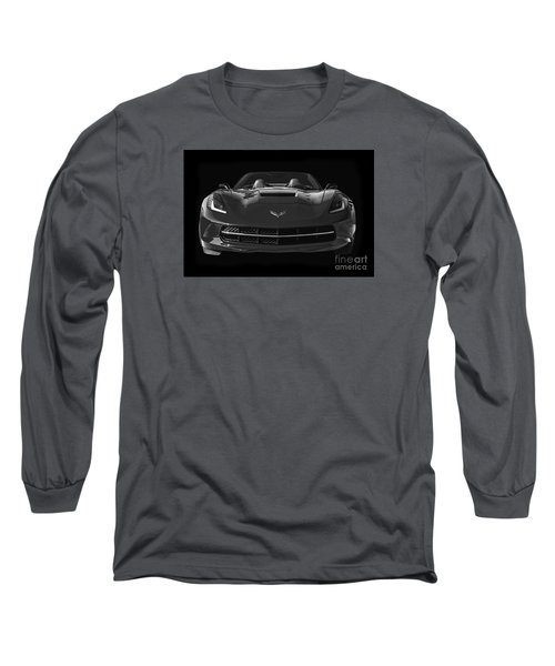 C7 Stingray Corvette Long Sleeve T-Shirt by Dennis Hedberg