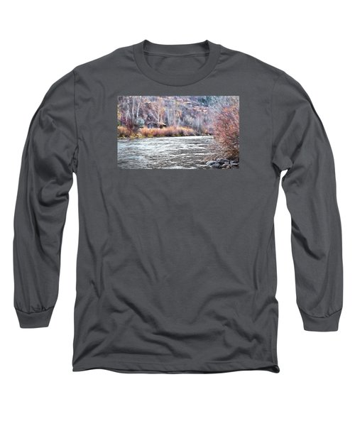 Cabin By The River In Steamboat,co Long Sleeve T-Shirt