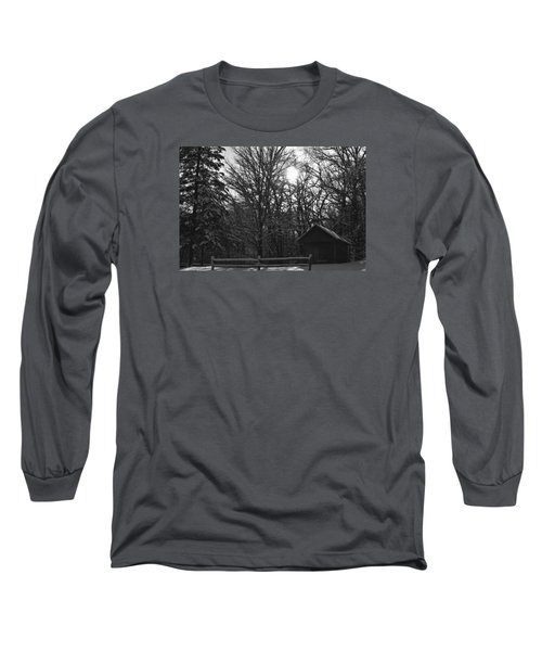 Cabin By The Woods Long Sleeve T-Shirt by Dacia Doroff