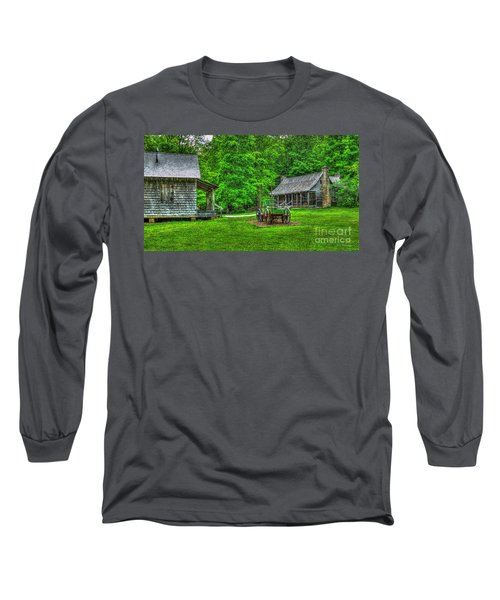 Long Sleeve T-Shirt featuring the photograph Cabin Fever Great Smoky Mountains Art by Reid Callaway