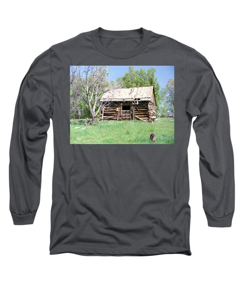 Cabin In The Mountains Long Sleeve T-Shirt