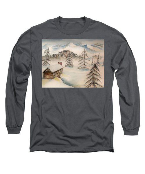 Cabin In The Rockies Long Sleeve T-Shirt
