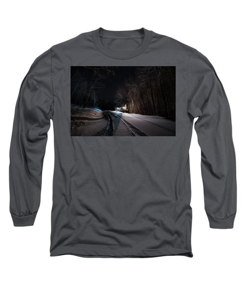 Cabin In The Winter Long Sleeve T-Shirt