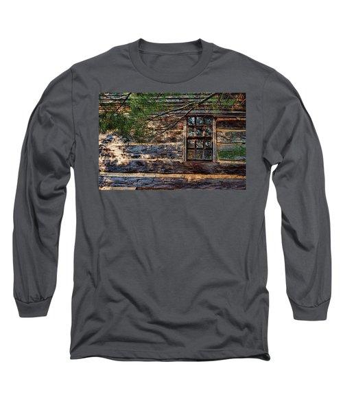 Cabin Window Long Sleeve T-Shirt by Joanne Coyle