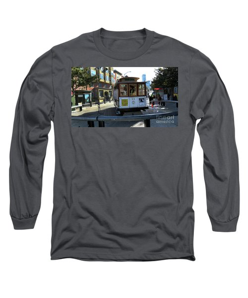 Long Sleeve T-Shirt featuring the photograph Cable Car Turnaround by Steven Spak