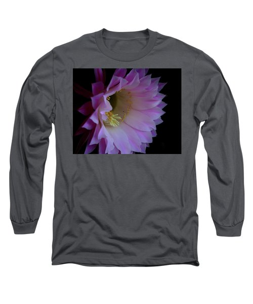 Cactus Easter Lily Bright Long Sleeve T-Shirt by Marna Edwards Flavell