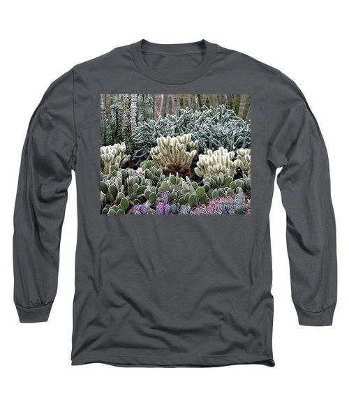 Cactus Field Long Sleeve T-Shirt by Rebecca Margraf
