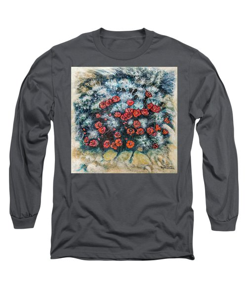 Cactus Flower Long Sleeve T-Shirt by Ron Richard Baviello