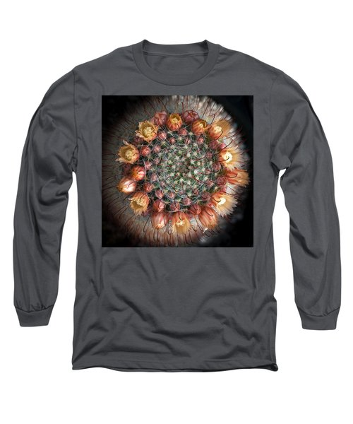 Cactus Flowers  Long Sleeve T-Shirt by Catherine Lau