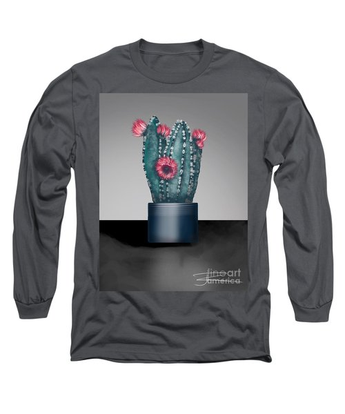 Cactus In Bloom I  Long Sleeve T-Shirt