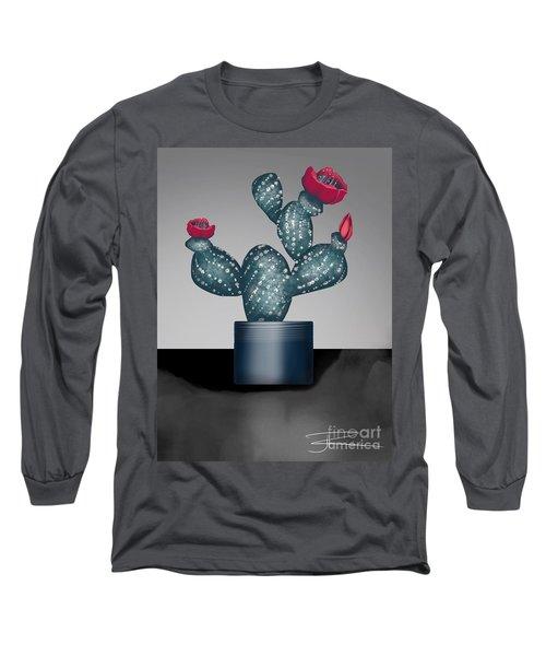 Cactus In Bloom II Long Sleeve T-Shirt