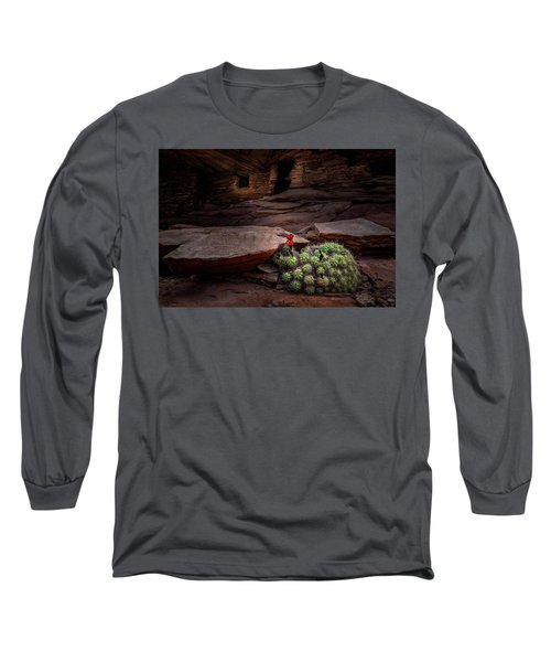 Cactus On Fire Long Sleeve T-Shirt