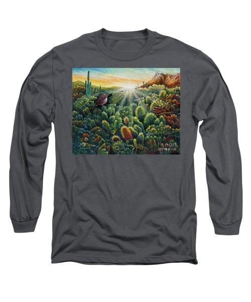 Cactus Wren Long Sleeve T-Shirt