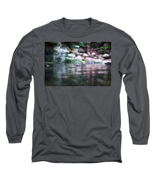 Long Sleeve T-Shirt featuring the photograph Caiman by Traven Milovich