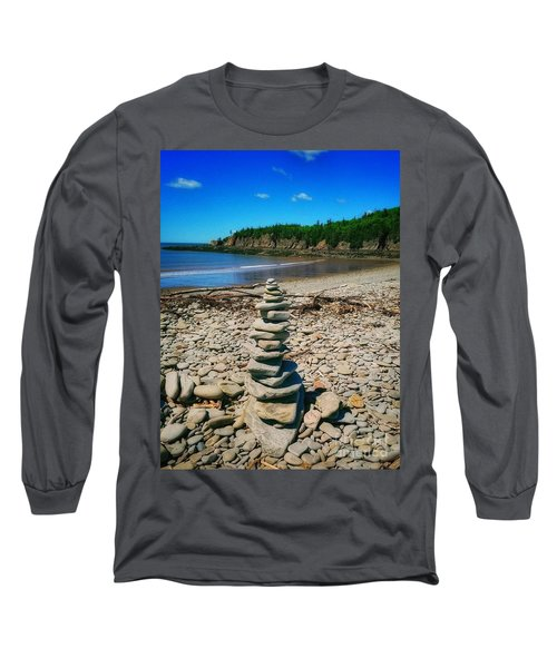 Cairn In Eastern Canada Long Sleeve T-Shirt