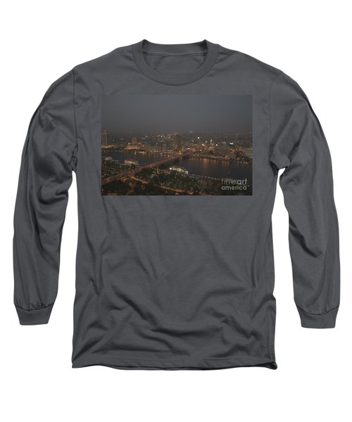 Cairo Smog Long Sleeve T-Shirt by Darcy Michaelchuk