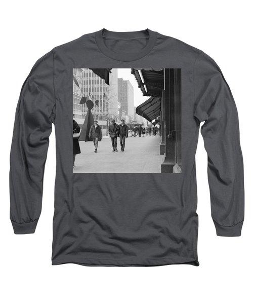 Calder Sculpture On Nicollet Mal Long Sleeve T-Shirt