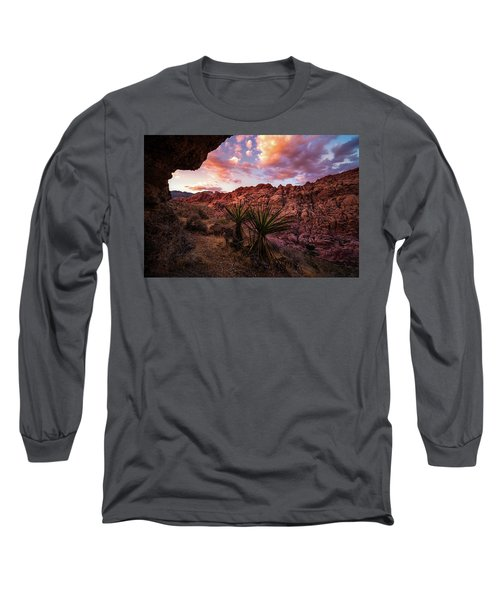 Calico Sunset Long Sleeve T-Shirt by Bjorn Burton