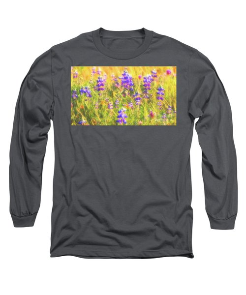 California Lupines Redux Long Sleeve T-Shirt
