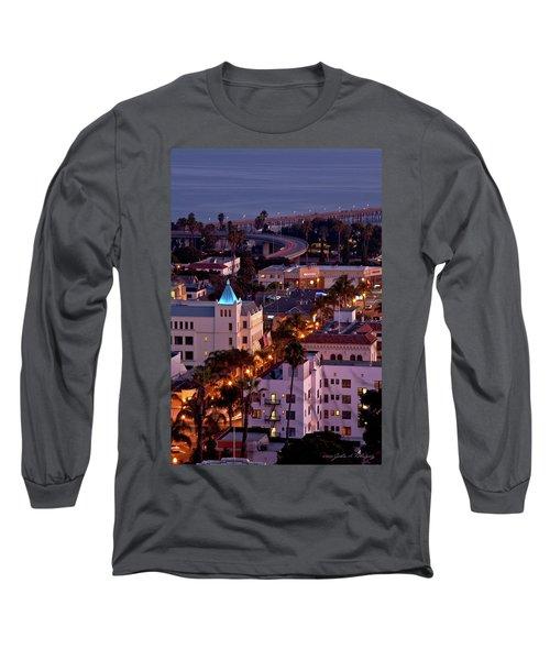 California Street At Ventura California Long Sleeve T-Shirt by John A Rodriguez