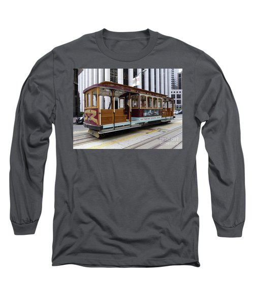 Long Sleeve T-Shirt featuring the photograph California Street Cable Car by Steven Spak