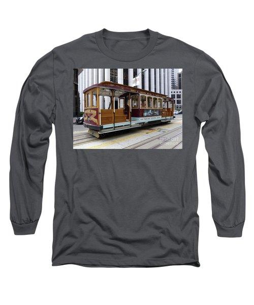 California Street Cable Car Long Sleeve T-Shirt by Steven Spak