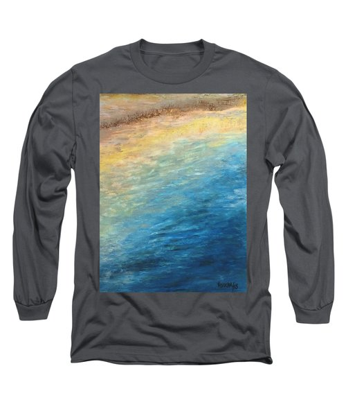 Long Sleeve T-Shirt featuring the painting Calipso by Norma Duch