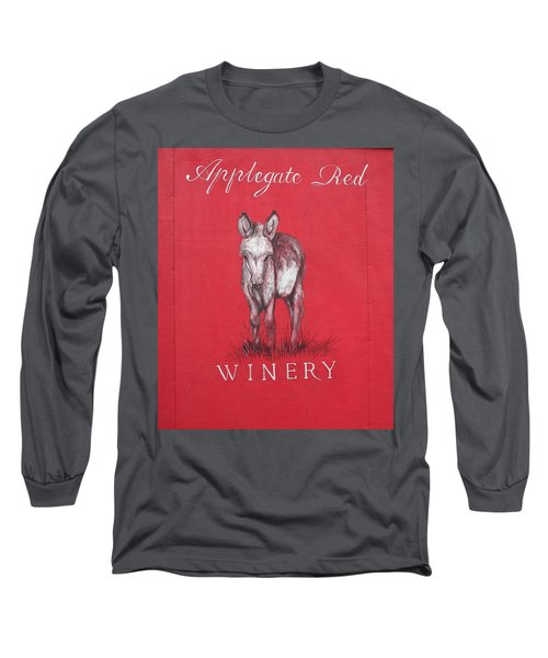 Long Sleeve T-Shirt featuring the photograph Call Me Applegate Red by Marie Neder