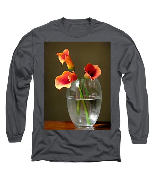 Calla Lily Stems Long Sleeve T-Shirt by Diana Angstadt