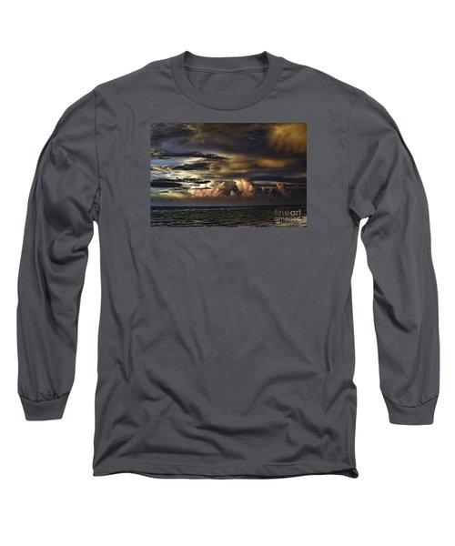 Calm Before Storm Long Sleeve T-Shirt by Judy Wolinsky