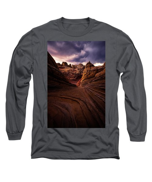 Calm Before The Storm Long Sleeve T-Shirt by Bjorn Burton