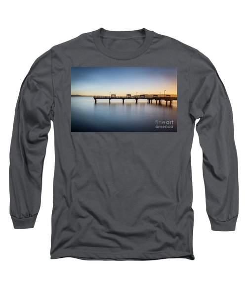 Calm Morning At The Pier Long Sleeve T-Shirt