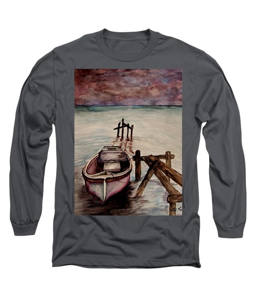 Calm Waters Long Sleeve T-Shirt by Lil Taylor