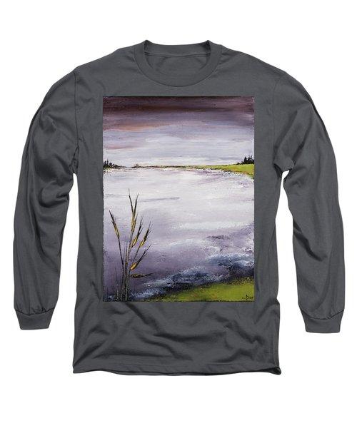 Calmer Water Long Sleeve T-Shirt by Carolyn Doe