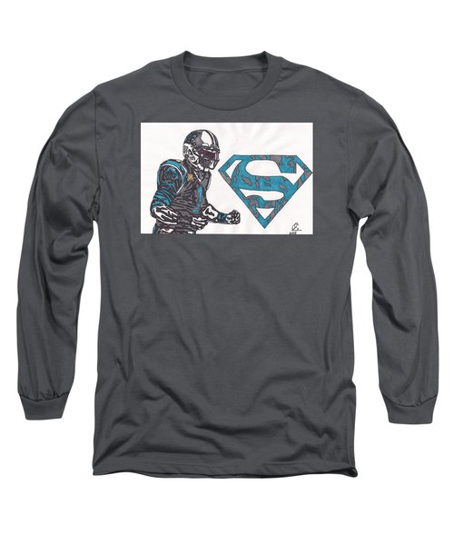 Cam Newton Superman Edition Long Sleeve T-Shirt by Jeremiah Colley