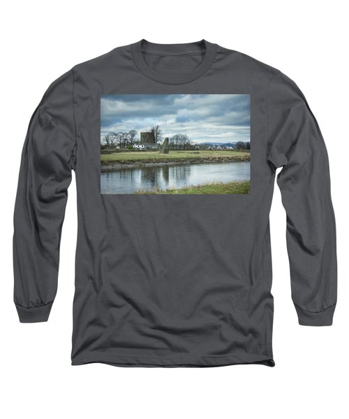 Cambuskenneth Abbey And The River Forth Long Sleeve T-Shirt