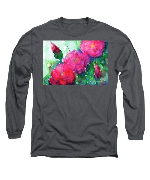 Camellia Abstract Long Sleeve T-Shirt